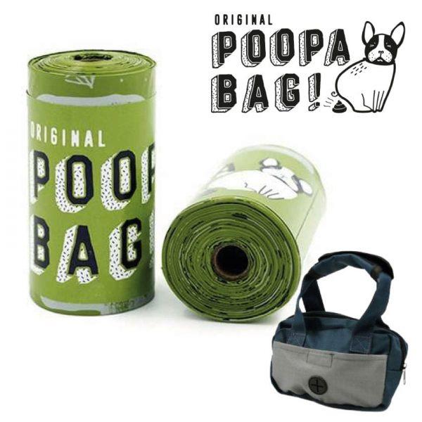 Poopa Bag Bolsas Biodegradables - Pack 10 Rollos + Dispensador