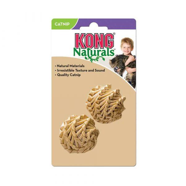 Kong Naturals Straw Ball Pack x 2