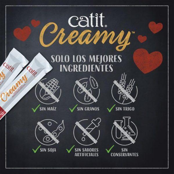 Catit Creamy Sabor Atun - 4 Tubos