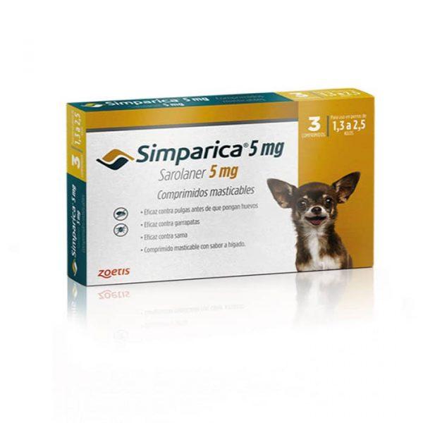 Simparica Antiparasitario Externo Perro de 1.3 a 2.5 Kg - 3 Comp.
