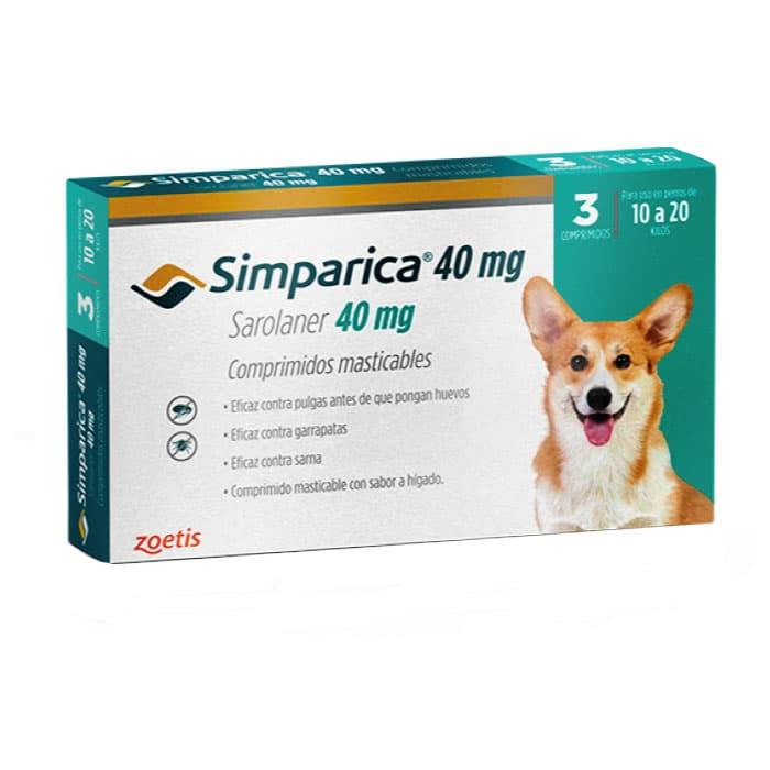 Simparica Antiparasitario Externo Perro de 10 a 20 Kg - 3 Comp.