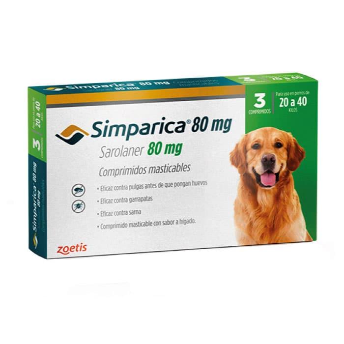 Simparica Antiparasitario Externo Perro de 20 a 40 Kg - 3 Comp.
