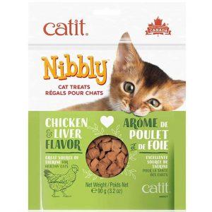 Catit Nibbly Sabor Pollo e Higado - Snack 90Grs