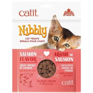 Catit Nibbly Snack Sabor Salmon 90Grs