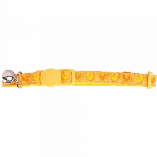 Pawise Collar Amarillo Corazones