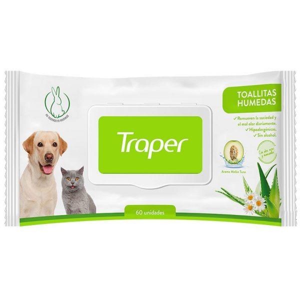 Traper Toallitas Húmedas Para Mascotas - 30 Unidades