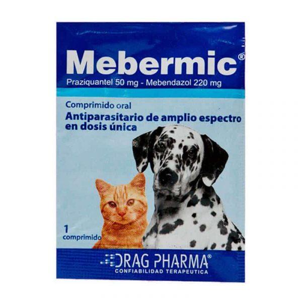 Mebermic Antiparasitario Interno Perro y Gato - 2 Tabletas