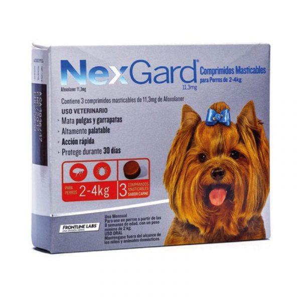 Nexgard Antiparasitario Perro 2 a 4 Kg - 3 Comprimidos